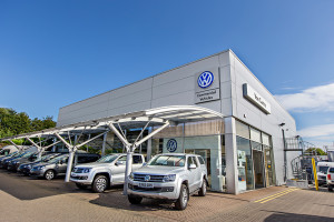 The VW show room in Bury St. Edmunds